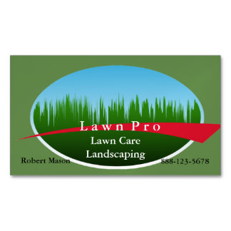 Lawn Care Landscaping Logo Magnetic Business Card
