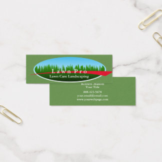 Lawn Care Landscaping Logo Mini Business Card