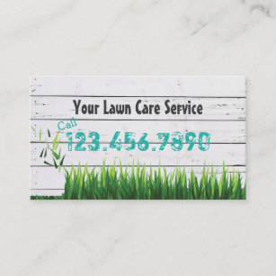 Professional lawn mowing services business cards business card lawn care landscaping service business card reheart Gallery