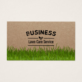 Lawn Care & Landscaping Service Rustic Business Card