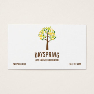 Lawn Care Landscaping Tree Logo Business Card