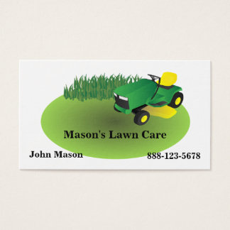 Lawn Care Lawn Mower Landscaping Grass Business Card