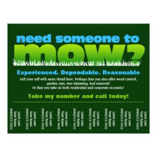 Lawn Care Mow Grass Landscaper Flyer