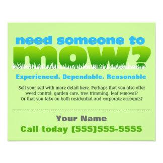 Lawn Care Mow Grass Landscaper SMALL Flyer
