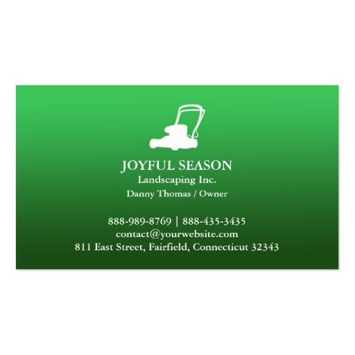 lawn care mower business card zazzle