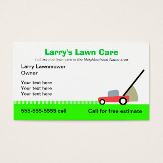 Lawn care business cards business card printing zazzle for Mowing business cards