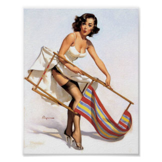 Lawn Chair Pin Up Posters