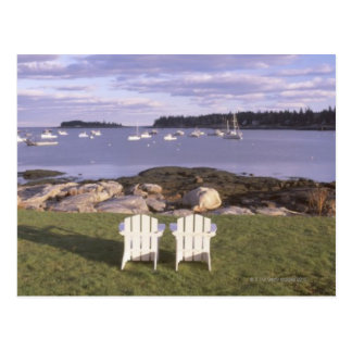 Lawn Chairs at Lobster Village Postcard