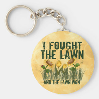 Lawn Fighter Basic Round Button Key Ring