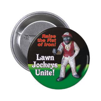 Lawn Jockeys Unite! Button
