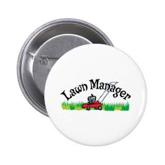 Lawn Manager 6 Cm Round Badge
