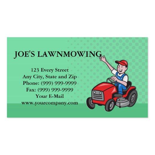 Lawn Mowing Landscaper Gardener Double Sided Standard