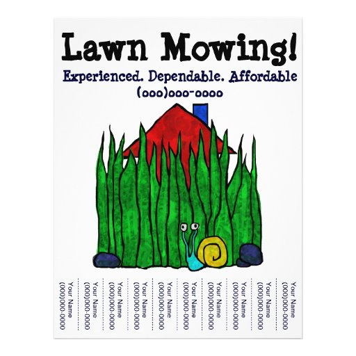 lawn care flyer template word