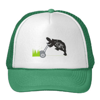 Lawn Mowing Turtle Trucker Hat