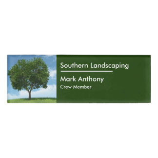 Lawn Or Landscaping Simple Design Name Tag