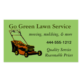 Lawn Service Business Card with mower customisable