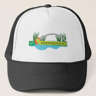 Lawn Sprinkler Trucker Hat