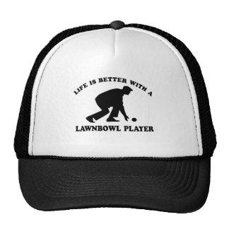 Lawnbowling vector designs cap