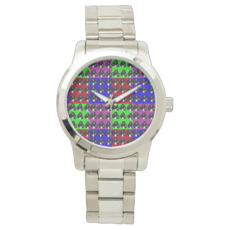 Lawnbowls Colorful Patchwork Pattern, Unisex Watch