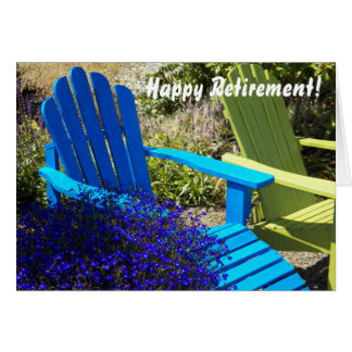 Lawnchairs Photo Retirement Greeting Card