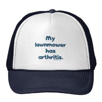Lawnmower Has Arthritis Mesh Hats