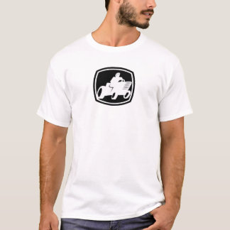 Lawnmower Racing Black and White logo Shirt