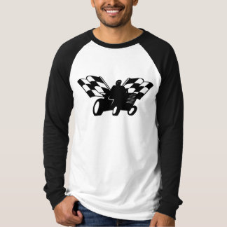 Lawnmower Racing Checkered Flags Shirt