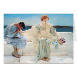 Lawrence Alma Tadema Ask Me No More Card