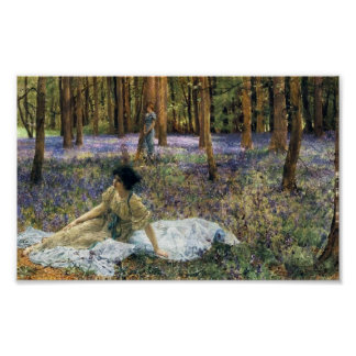 Lawrence Alma Tadema Bluebells Poster