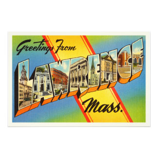 Lawrence Massachusetts MA Vintage Travel Souvenir Photo Print