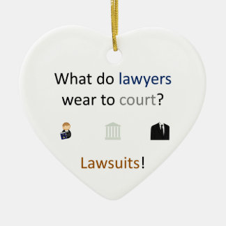Lawsuits Joke Ceramic Heart Decoration