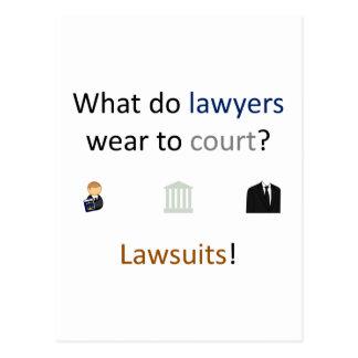 Lawsuits Joke Postcard