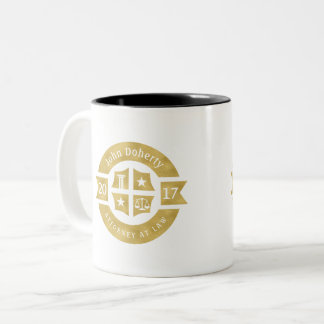 Lawyer 2017 Attorney At Law | Elegant Golden Two-Tone Coffee Mug