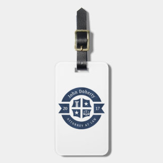 Lawyer 2017 Attorney At Law | Navy Blue Luggage Tag