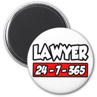 Lawyer 24-7-365 magnets