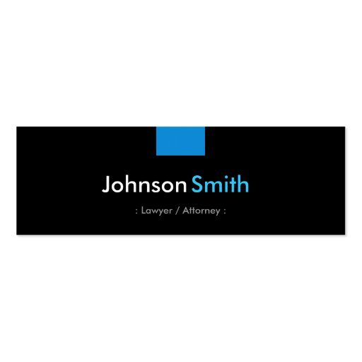 Lawyer / Attorney - Aqua Blue Compact Business Cards