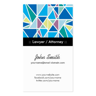 Lawyer / Attorney Blue Abstract Geometry Pack Of Standard Business Cards