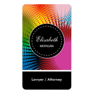 Lawyer / Attorney- Colorful Abstract Pattern Pack Of Standard Business Cards