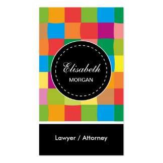 Lawyer / Attorney- Colorful Sqaure Pattern Pack Of Standard Business Cards