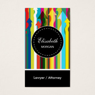 Lawyer / Attorney- Colorful Stripes Pattern Business Card