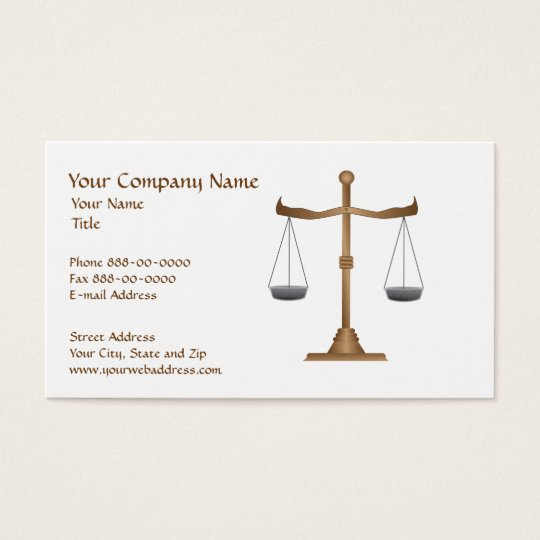 Lawyer Attorney Court Business Card