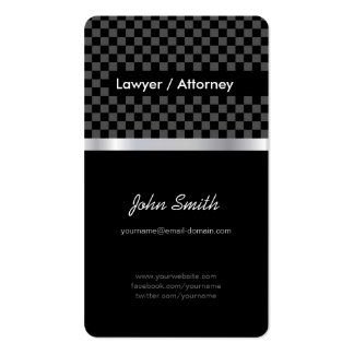 Lawyer / Attorney - Elegant Black Silver Squares Pack Of Standard Business Cards
