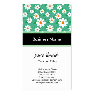 Lawyer / Attorney Elegant Green Daisy Pattern Pack Of Standard Business Cards