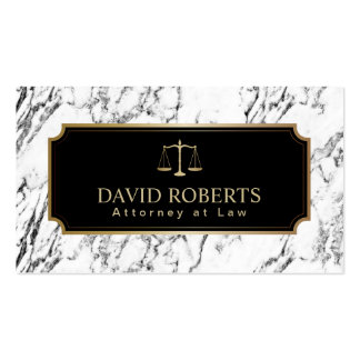 Lawyer Attorney Gold Scale Modern Marble Texture Pack Of Standard Business Cards