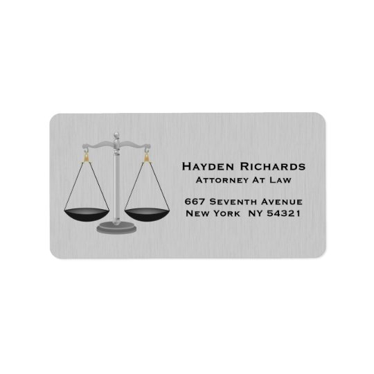 Lawyer Attorney Justice Scales Label