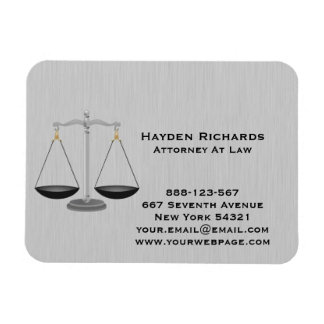 Lawyer Attorney Justice Scales Magnet