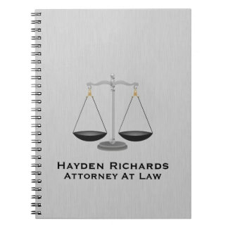 Lawyer Attorney Justice Scales Spiral Notebook