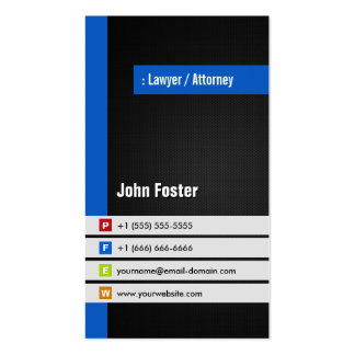 Lawyer / Attorney - Modern Stylish Blue Pack Of Standard Business Cards