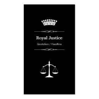 Lawyer Attorney Office - Professional Royal Crown Pack Of Standard Business Cards