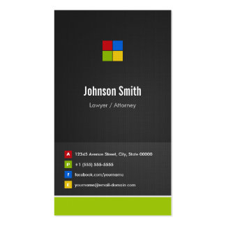 Lawyer / Attorney - Premium Creative Colorful Pack Of Standard Business Cards
